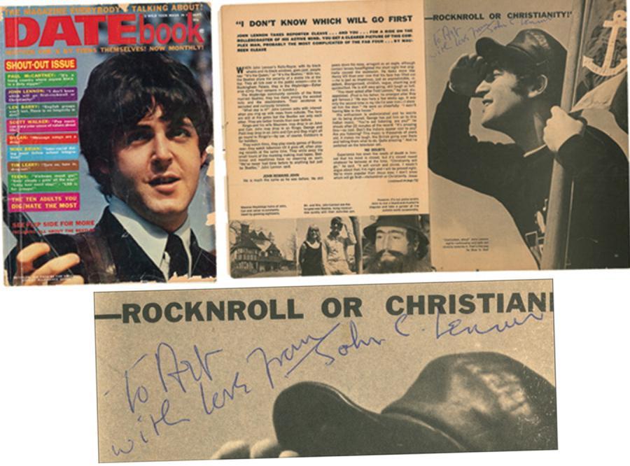Magazyn z podpisem Lennona sprzedany za 12 tys. dolarów